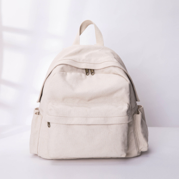 New simple large-capacity canvas shoulder art school bag casual travel backpack women