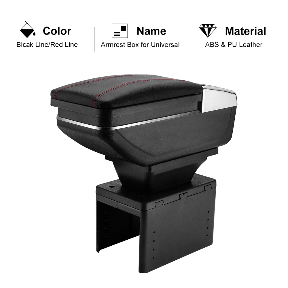 Armrest-Box Universal Car-Styling-Accessories Central Container