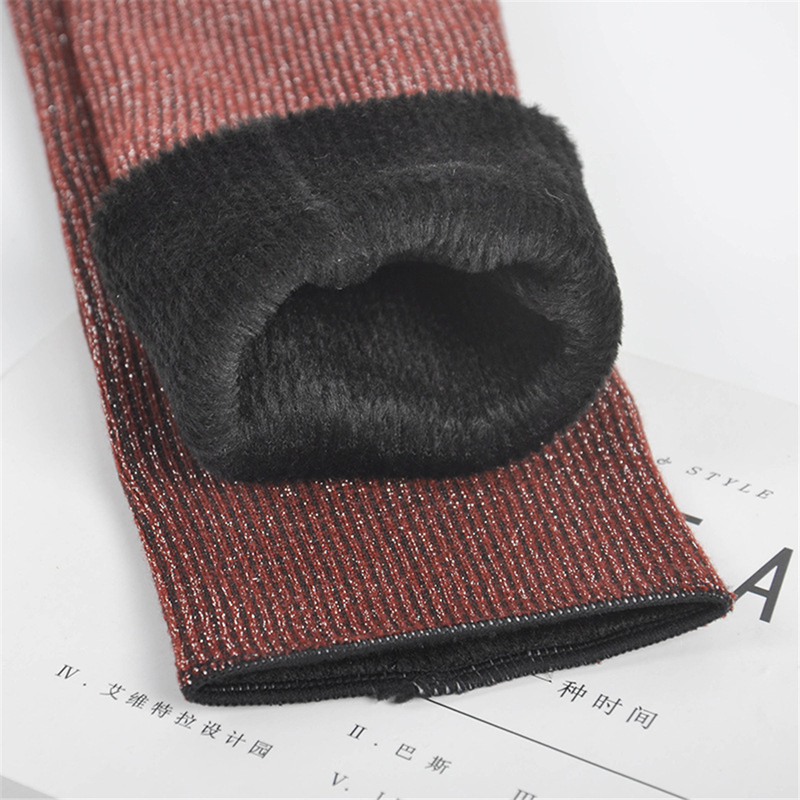 H7fa8ca7337e946e3a8b56617b701cb9ea - Thickening Cashmere Snow Socks Men Women's Autumn And Winter Warm Velvet Solid Casual Thermal Keep Sleeping Socks