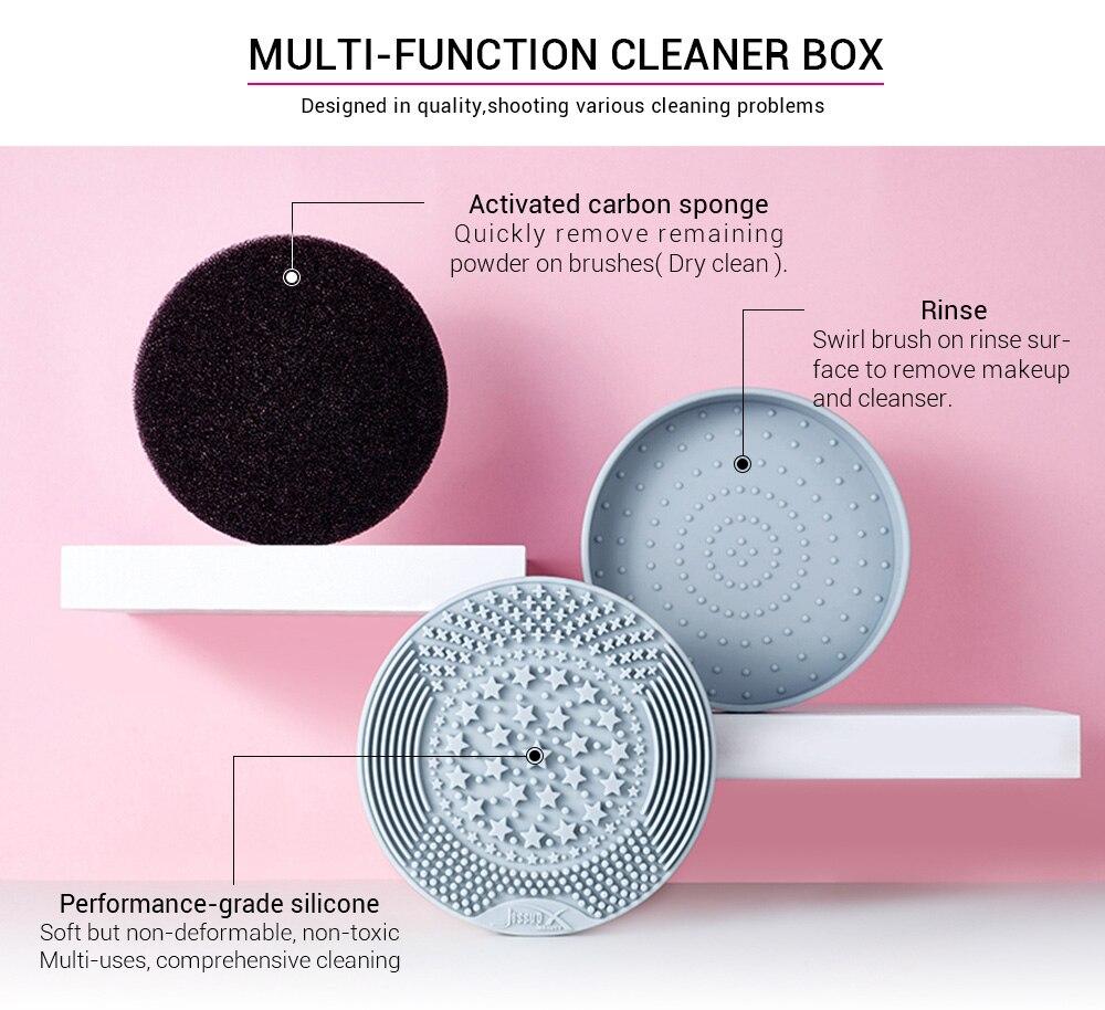 Jessup Makeup Brush Cleaner Sponge 2-IN-1 detergente per Silicone secco e umido accessori per il trucco a colori