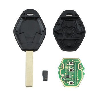 Remote Control Car Key 3 Button PCF7935 Chip Auto Smart Key 433MHz HU92 Blade for BMW EWS System image