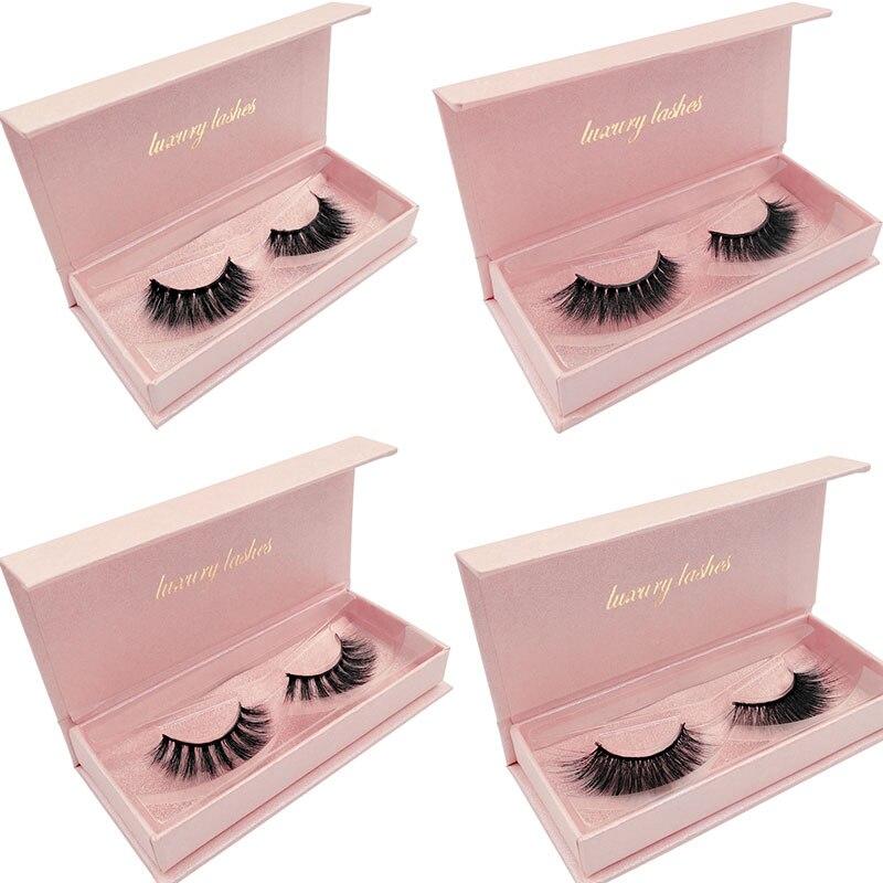 SHIDISHANGPIN Gorgeous 3D Mink Lashes Dramatic Eyelashes Volume Eyelash Extensions Mink Eyelashes Natrual False Eyelashes Kits