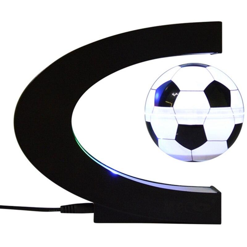 Football Magnetic Levitation Lamp Children Float Iluminat Bedroom Decoration Soccer Levitating Table Xmas Gift