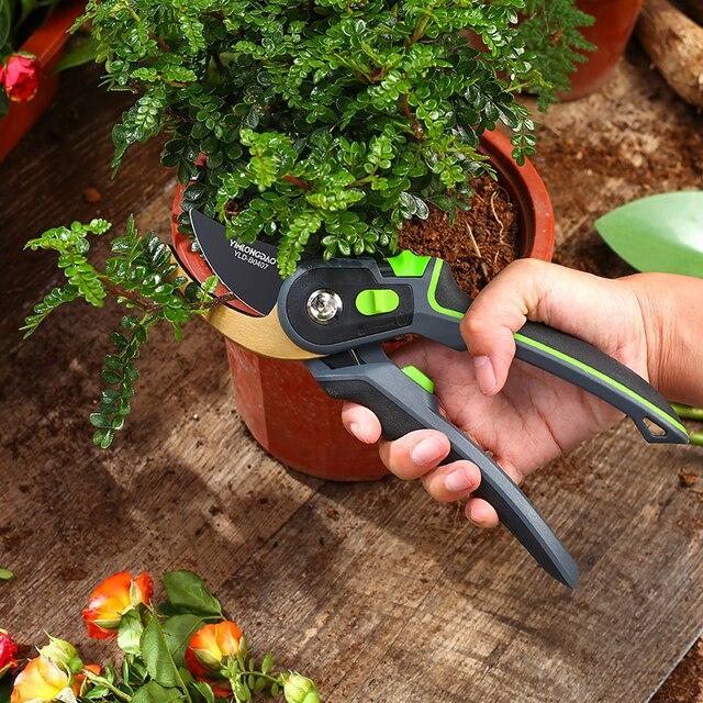 AI-ROAD With Lock Garden Prunch Shear Branch Pruner Scissor Fruit Cutter Sharp Tree Grafting Trimmer Home Hand Tool 2