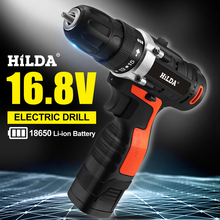 цена на 16.8V Electric Drill Lithium-Ion Battery 2 Speed Electric Cordless Drill Cordless Screwdriver Mini DIY Driver Woodworking Tools