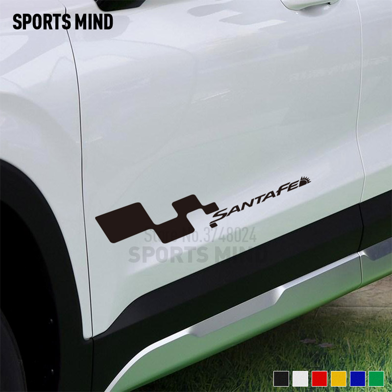 1 Pair SPORTS MIND Door Car Sticker Decal Automobiles Vinyl Car Styling For <font><b>Hyundai</b></font> <font><b>Santa</b></font> <font><b>fe</b></font> Santafe Exterior <font><b>Accessories</b></font> image