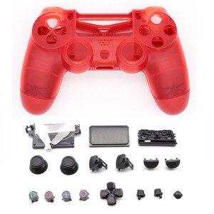 Image 3 - Volle Gehäuse Shell Cover Fall Kristall Klar für Playstation 4 Pro PS4 Schlank Pro Controller 4,0 JDS 040 JDM 040 Version 2 Gen