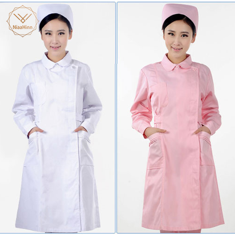New Women Medical Uniforms Beauty Salon Medical Scrub Nurse Uniform Dental Clinic Long Sleeve Clothes Slim Fit Medical Clothing