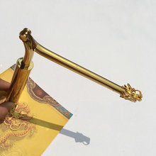Y Pure copper folding dragon feet measuring rod water pulse divination compass wind pendulum