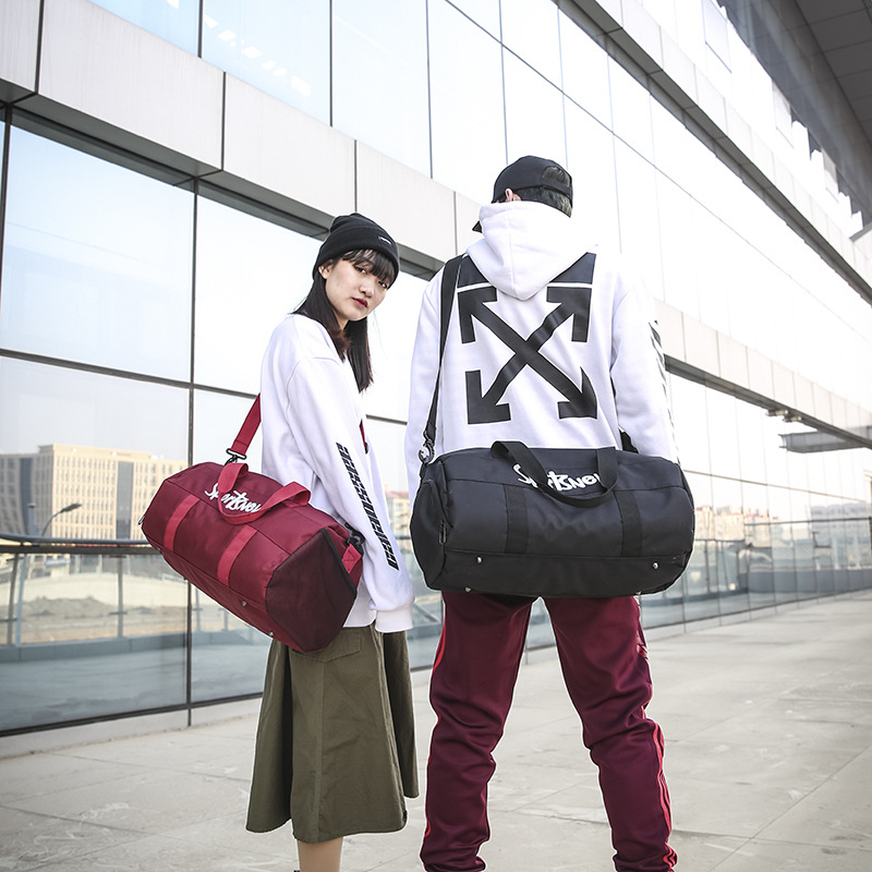 Outdoor Portable Travel Bag Fitness Yoga Backpack Large Capacity Dry-wet Separation Cylinder Waterproof Handbag