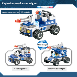 Image 5 - 762PCS City Police Series Building Blocks 8 in 1 Vehicle Helicopter City Police Station Compatible DIY Bricks Blocks Toys Kids