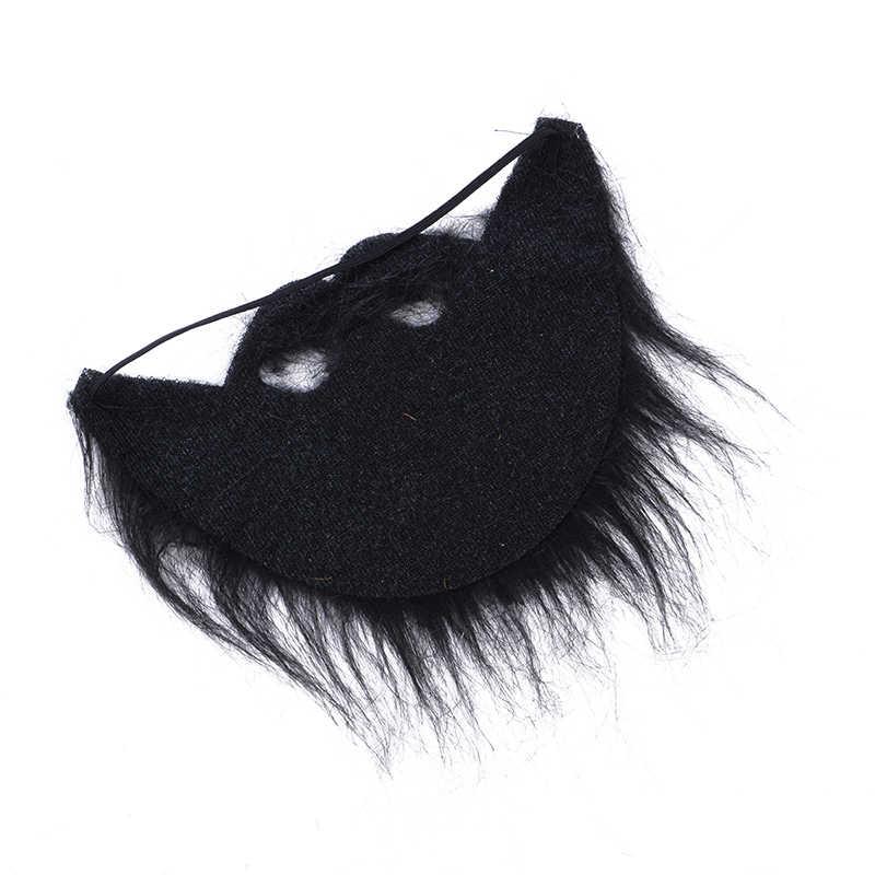 Jenggot Palsu Pesta Masker untuk Pria Kumis Tangan Dibuat Oleh Real Rambut Makeup Cosplay Rambut Wajah Natal Meriah Perlengkapan Pesta baru
