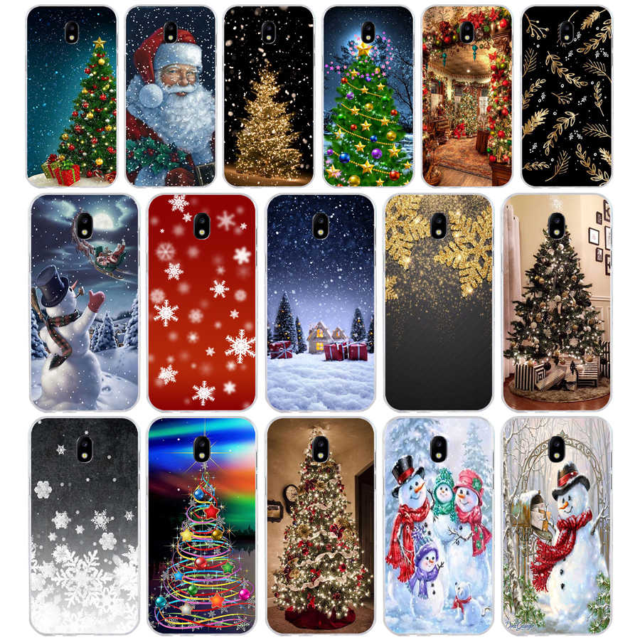 325FG Christmas holiday Tree New Year Soft Silicone Tpu Cover phone Case for Samsung j3 j5 j7 2016 2017 j330 j2 j6 Plus 2018