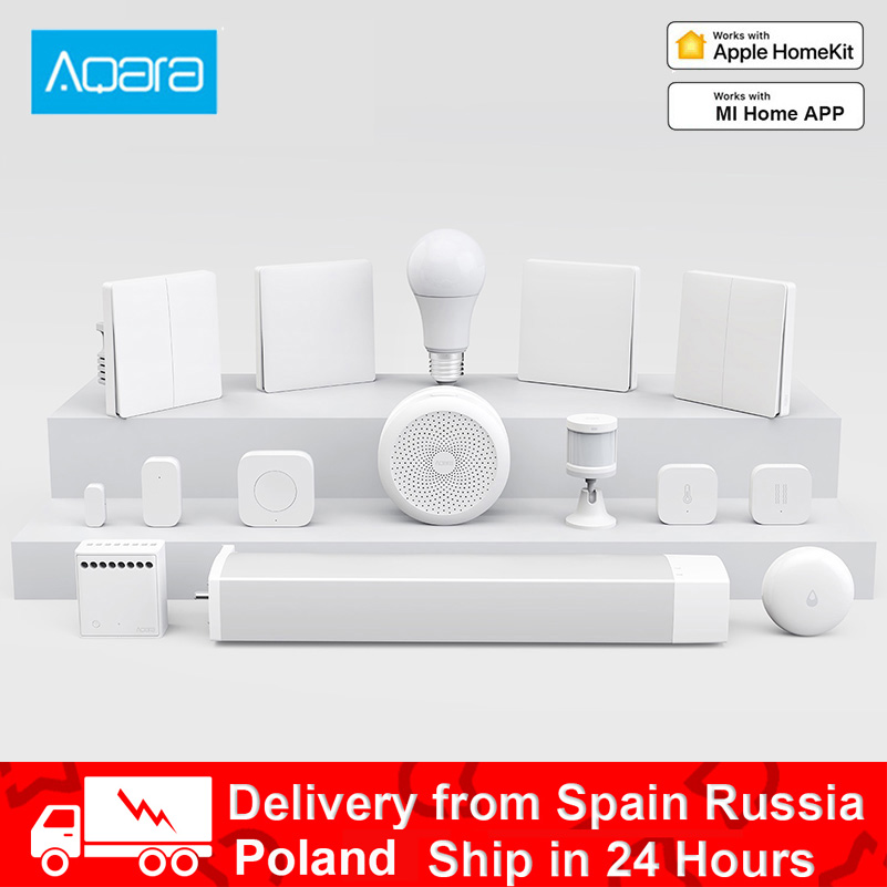 Aqara Smart Home Kits Gateway Hub Camera Wall Wireless Switch Lamp Door Motion Temperature Sensor Relay Module For Mi Home APP