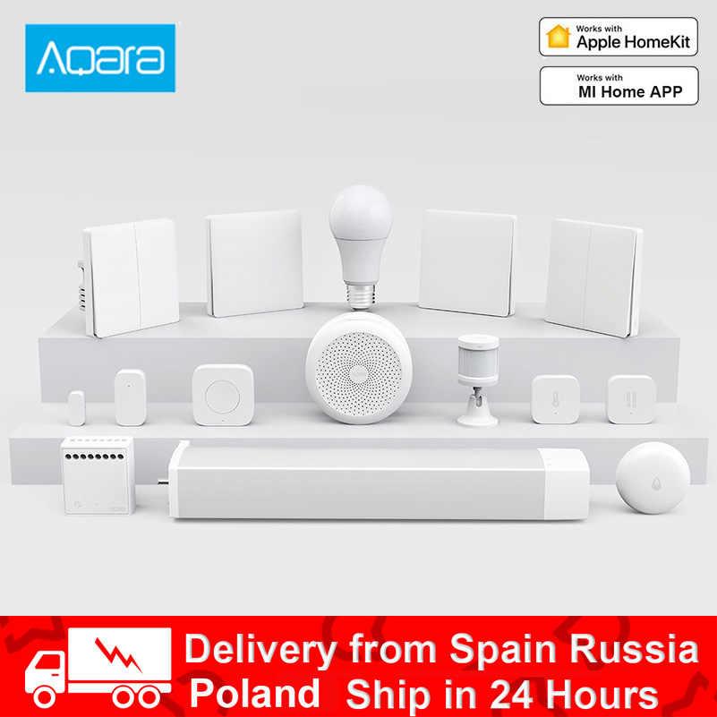 Aqara 스마트 홈 키트 게이트웨이 허브 카메라 벽 무선 스위치 램프 도어 모션 온도 센서 릴레이 모듈 mi Home APP
