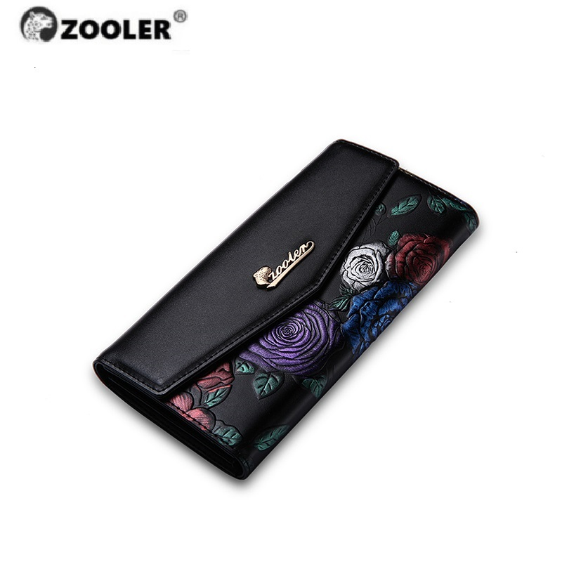 HOT ZOOLER Brand Woman Clutch Bag Leather Wallets Luxury Female Coin Purse Women Leather Wallet & Credit & Cellphone Bag#2953