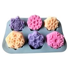 Silicone Mold Gypsum Christmas-Snowflake Crafts Plaster Handmade Resin 3d Aroma