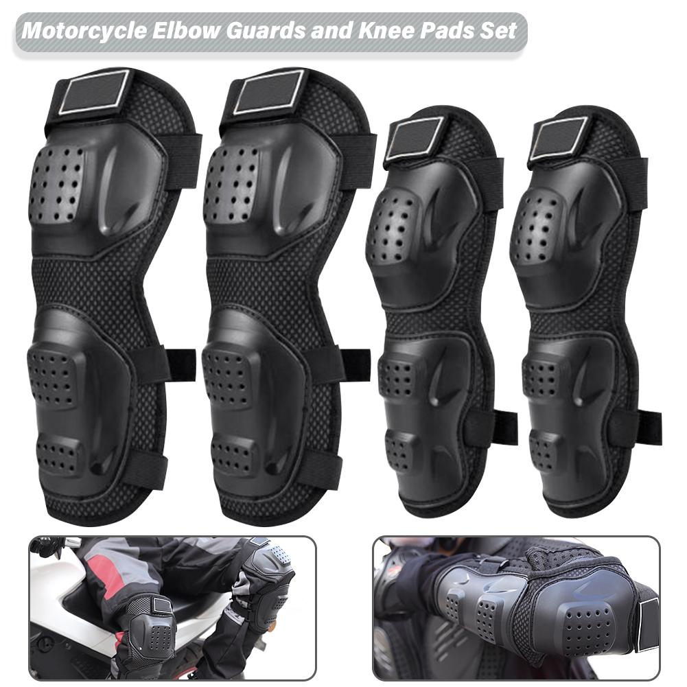 Protector Shoulder Elbow Motorcycle Guard Pads Racing Bike Adult Gear Skating Armor