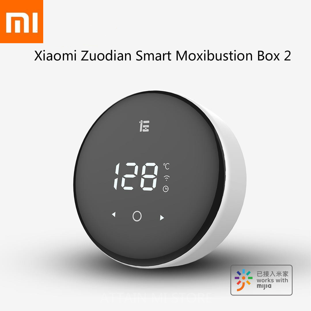 Xiaomi Smart Relaxation Massage Moxa Moxibustion Box 2 Xiomi Neck Massagem Cervical Massageador Beauty Tools Mihome APP Control