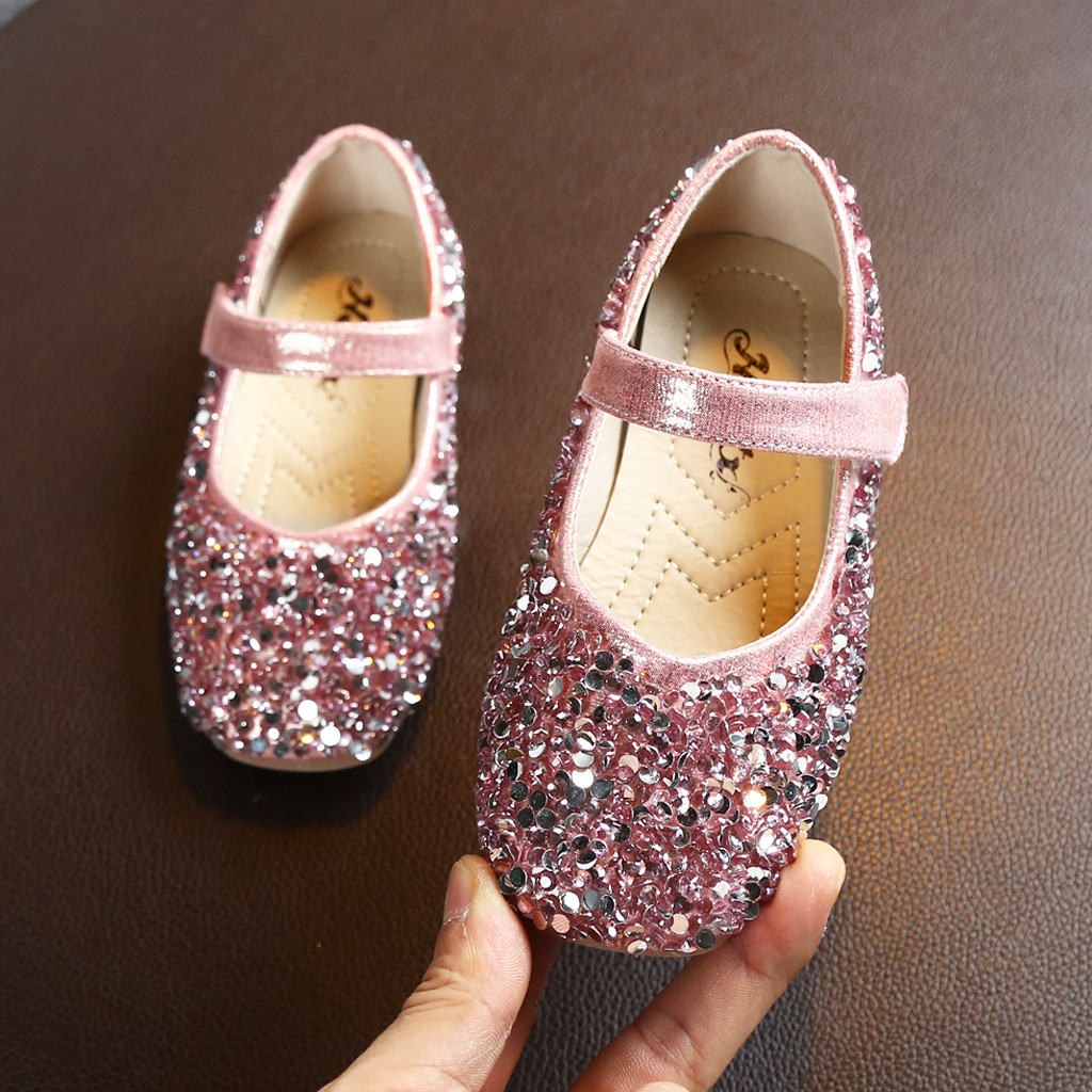 2019 Autumn Girls Shoes Princess Infant Kids Baby Children Sequins Girls Sandals Shoes Sandalias Melissa Zapatos Nina Sandalet