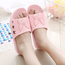2020 New Cartoon Rabbit Slippers Women Summer Thick Bottom Indoor Home Couples Home Bathroom Non-slip Soft Slippers TX181 women summer non slip bathroom slippers female indoor home soft bottom slippers unisex lovers couples slipper gifts