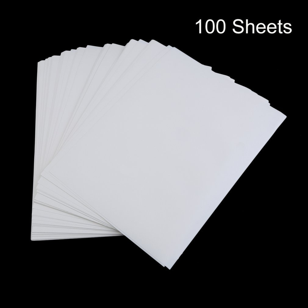100 PCS A4 Sublimation Print Paper For Polyester Cotton T-Shirt Iron On Transfer Paper Heat Printing Transfer Accessories;