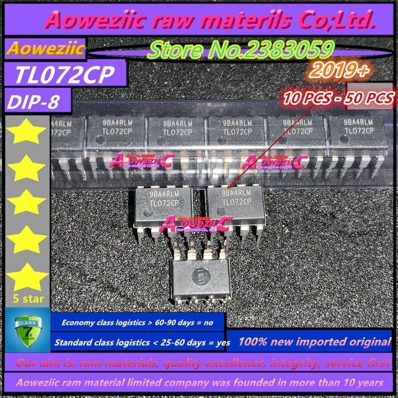 Aoweziic 2019 + 100 ٪ جديد مستورد أصلي TL072CP TL072 DIP-8 مضخمات تشغيلية/ مكبر التشغيل