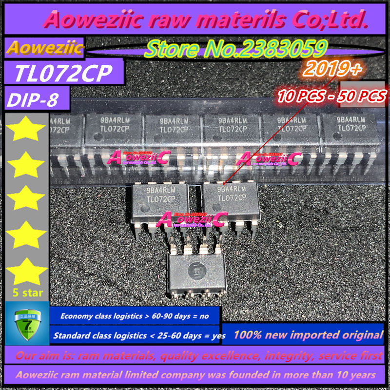 Aoweziic  2019+   100% New Imported Original  TL072CP  TL072  DIP-8 Dual Operational Amplifiers