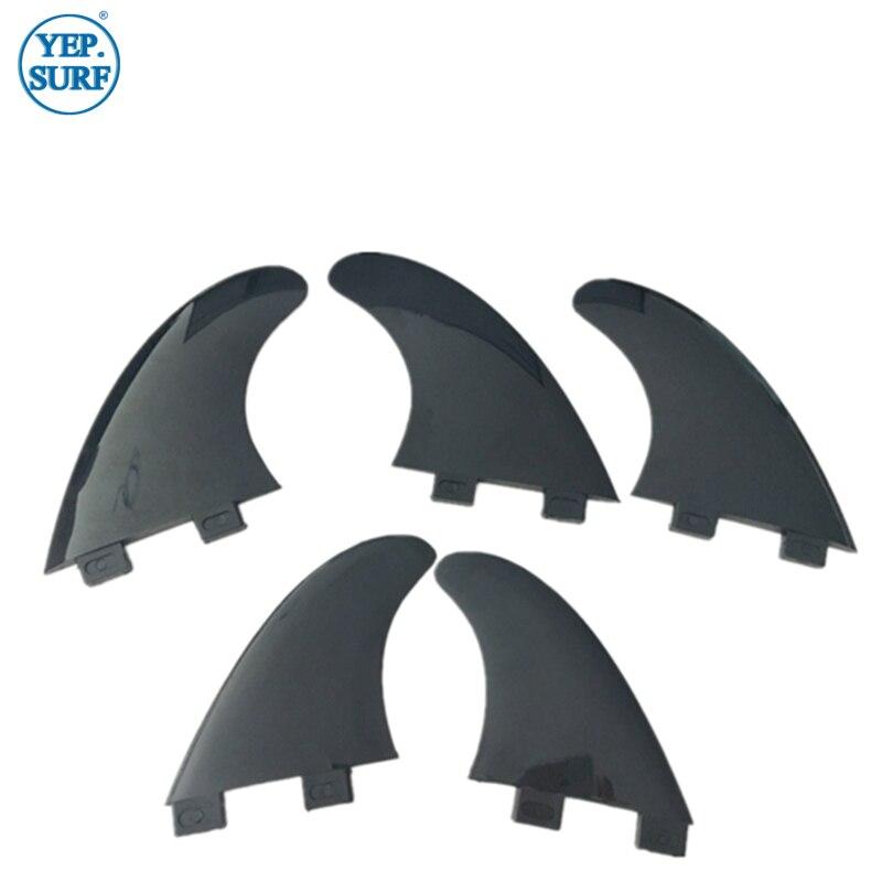 Surfing Plastic Soft FCS Fins FCS GX/G5/G5+GX Black Fin Twin Fin Set/Tri Fin Set/Tri-quad Fin Set 2/3/5 Pcs Per Set