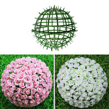 Outdoor Plant Shelves Artificial Wall Plastic Panels Holder For DIY Wedding Flower Ball Rack Background(China)