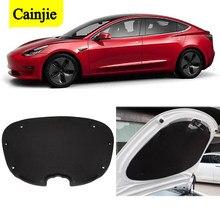 2021 neue Auto Vorder Trunk Schallschutz Baumwolle Matte Sound Proof Trittschalldämmung Schutzhülle Pad Für Tesla Modell 3 Zubehör