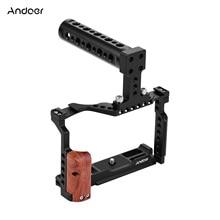 Andoer فيديو كاميرا قفص + أعلى مقبض عدة سبائك الألومنيوم مع مزدوج الباردة حذاء جبل متوافق مع فوجي فيلم X T3/X T2