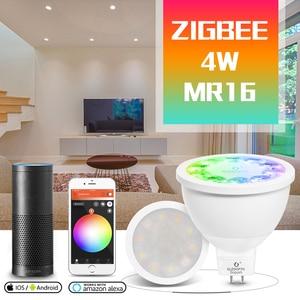 Image 1 - GLED0PTO ZIGBEE Mr16 led spotlight 4W RGB/CCT LED BULB DC12V work with smartthins zigbee hub echo plus smart phone control light