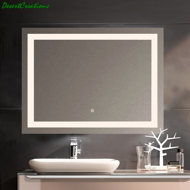 New LED Bath Mirrors Bathroom Vanity LED Lighted Mirror Wall Mounted Lighted Makeup Mirror For Home Bathroom 2