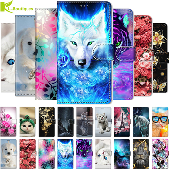 For Alcatel 3X 2019 5048U 5048Y case for alcatel 3 X 2019 5048 etui wallet magnetic painted leather bag for Alcatel3X 2019 cover image