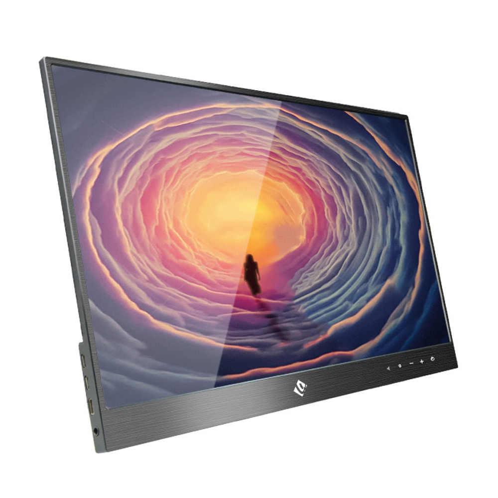 المحمولة IPS شاشة الكمبيوتر PC 15.6 بوصة 1080P شاشة عرض مع حالة غطاء ل اللوحي لابتوب PS4 ل xbox للهاتف