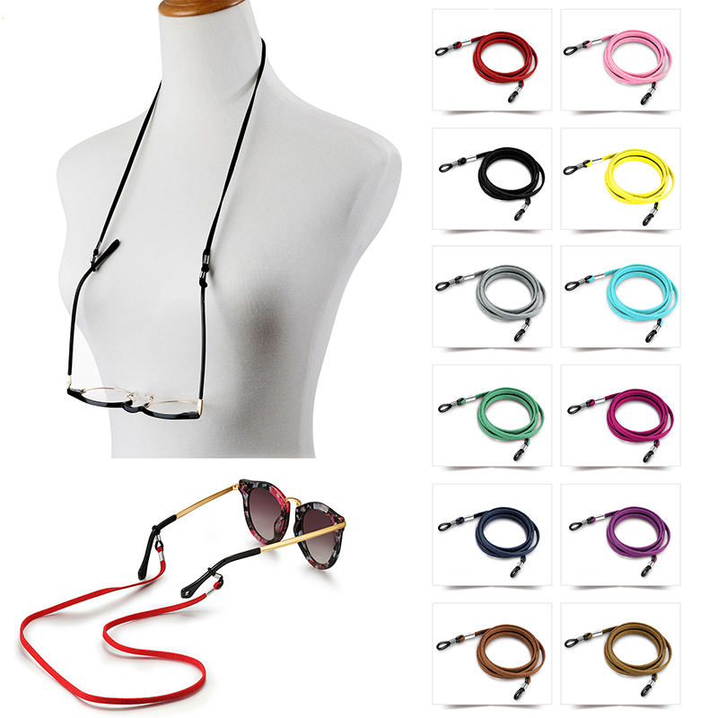 Fashion Faux Suede Sunglasses Lanyard Strap Necklace Braid Eyeglass Glasses Chain Cord Reading Glasses Eyewear Accessories