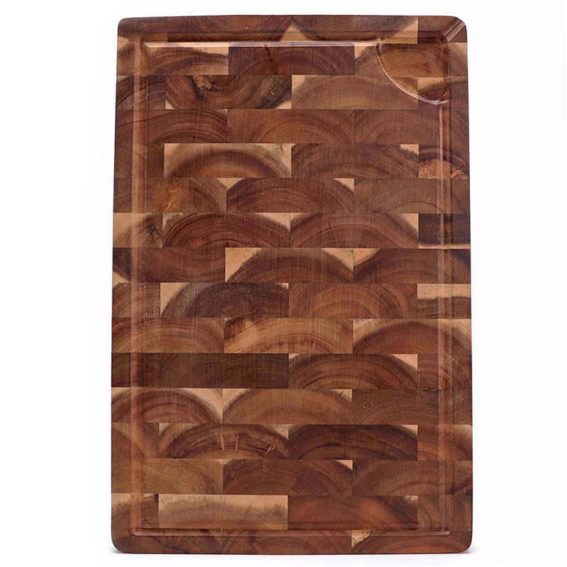 Large Multipurpose Thick Acacia Wood Cutting Board with Juice Groove, End-grain Chopping Board for Kitchen  18x12x1.4 1