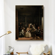 Canvas Art Oil Painting《The Girls》Velazquez Famous Art Poster Picture Wall Decor Modern Home Decoration For Living room Office