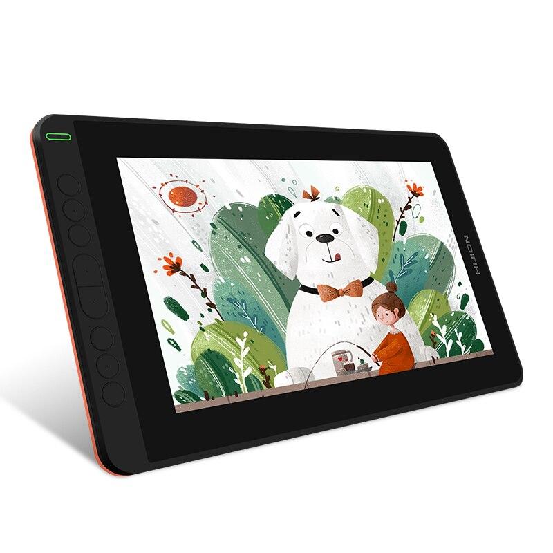 Huion nova chegada kamvas 12 11.6 polegadas de desenho monitor digital gráficos tablet com tilt 60 tilt 120% srgb distância educação