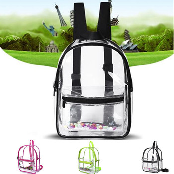 Fashion Women Backpack Transparent Versatile Student Bags High Quality Youth PVC Backpacks Waterproof Travel School Bag helen parr backpack helen parr backpacks student high quality bag print trending shopper multifunction bags