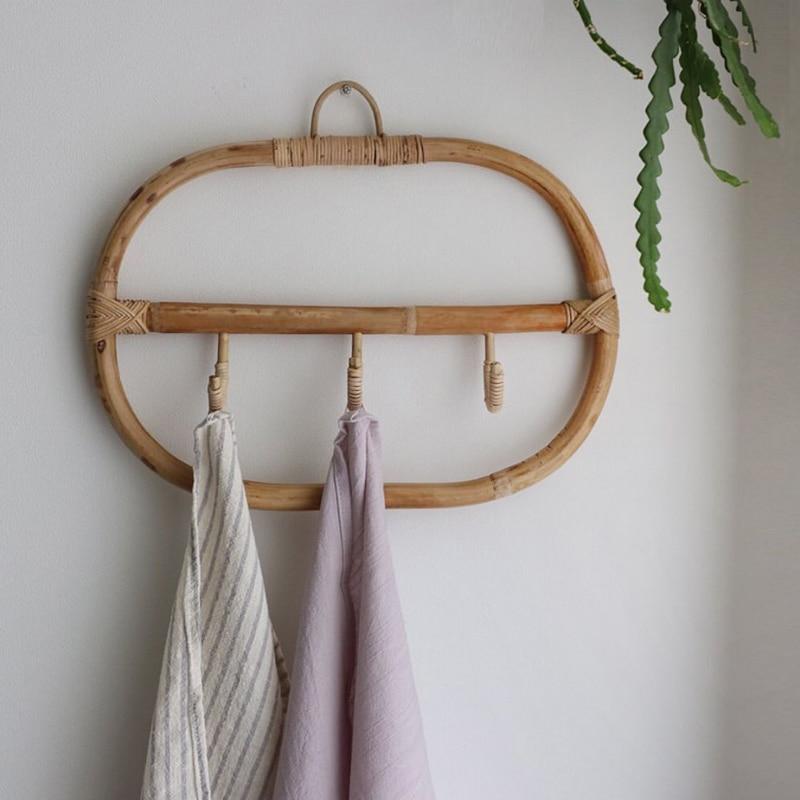Настенные крючки из ротанга, крючок для одежды, шляпы, крючок для вязания крючком, винтажный держатель для одежды, органайзер, вешалки, Декор для дома, отеля, общежития|Крючки и направляющие|   | АлиЭкспресс - Для ванной