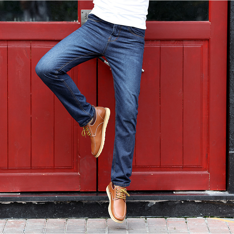 Men 39 s Jeans Slim Straight Pants Men 39 s Mid Waist Trousers Men Plus Size Straight Jeans Male Distressed Denim Pants Biker Jeans in Jeans from Men 39 s Clothing