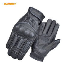 Touch Screen Breathable Motorcycle Gloves Genuine Leather Motocross Off Road Scooter Riding Motorbike Gloves Guantes Moto motorcycle off road racing rider anti touch screen leather gloves