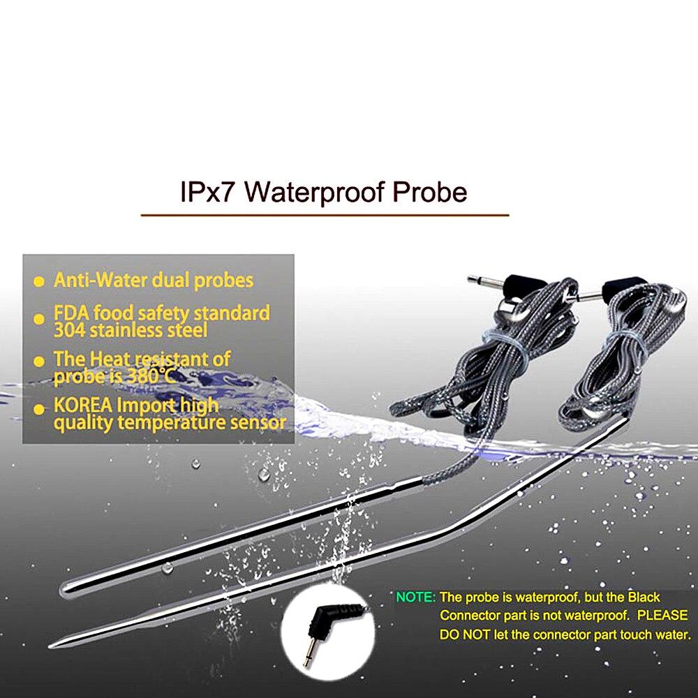 Xiaoyao24 Thermom/ètre /étanche hybride sonde de remplacement pour Thermopro sans fil num/érique de cuisson /à distance