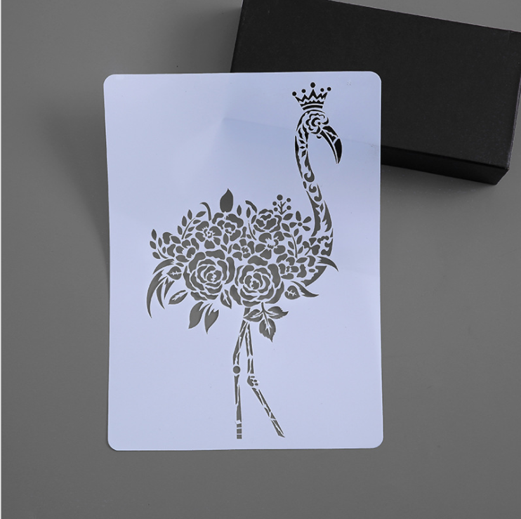 A4 29 * 21cm  Diy Craft Flamingo Mold For Painting Stencils Stamped Photo Album Embossed Paper Card On Wood, Fabric,wall Stencil