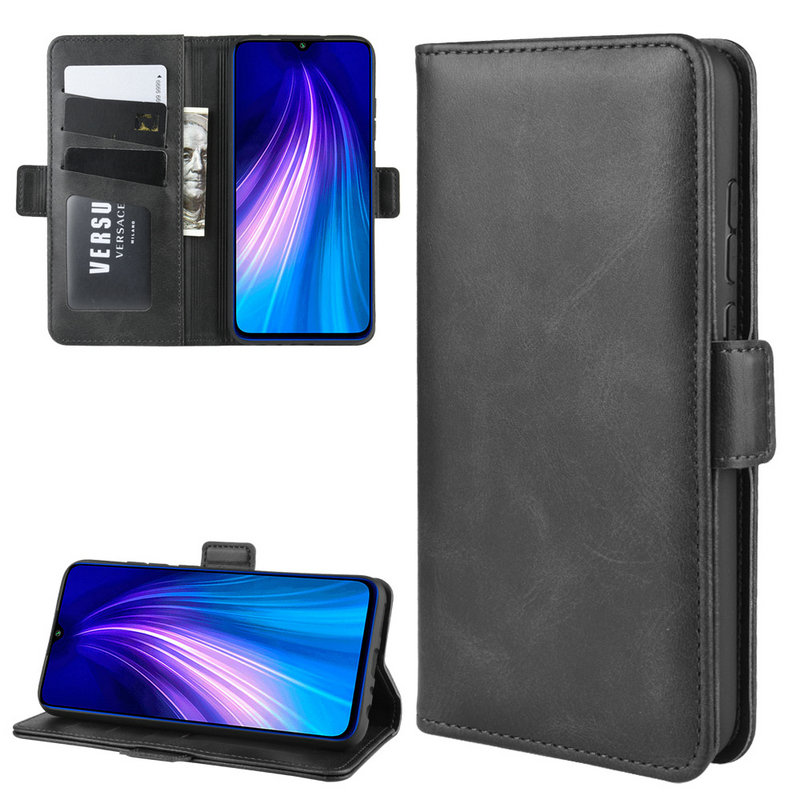 For <font><b>Xiaomi</b></font> <font><b>Redmi</b></font> <font><b>Note</b></font> 8T Wallet Case for <font><b>Xiaomi</b></font> <font><b>Redmi</b></font> <font><b>Note</b></font> <font><b>8</b></font> <font><b>Pro</b></font> 128GB <font><b>64GB</b></font> Double Flip Leather Cover Phone Case Capa Fundas> image