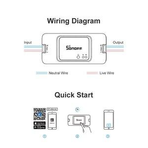 Image 4 - Sonoff temel R3 kablosuz Wifi anahtarı 220V/ışık/Google ev/Alexa/Ewelink otomasyon modülü akıllı ev Diy akıllı anahtarı