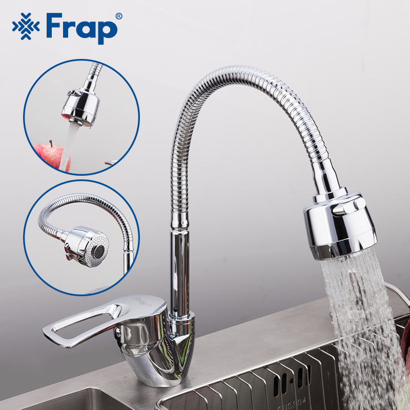 FRAP Solid Kitchen Mixer Cold and Hot flexible Kitchen Tap Single lever Hole Water Tap Kitchen Faucet Torneira Cozinha F43701 B|torneira cozinha|water tap kitchentap kitchen - AliExpress