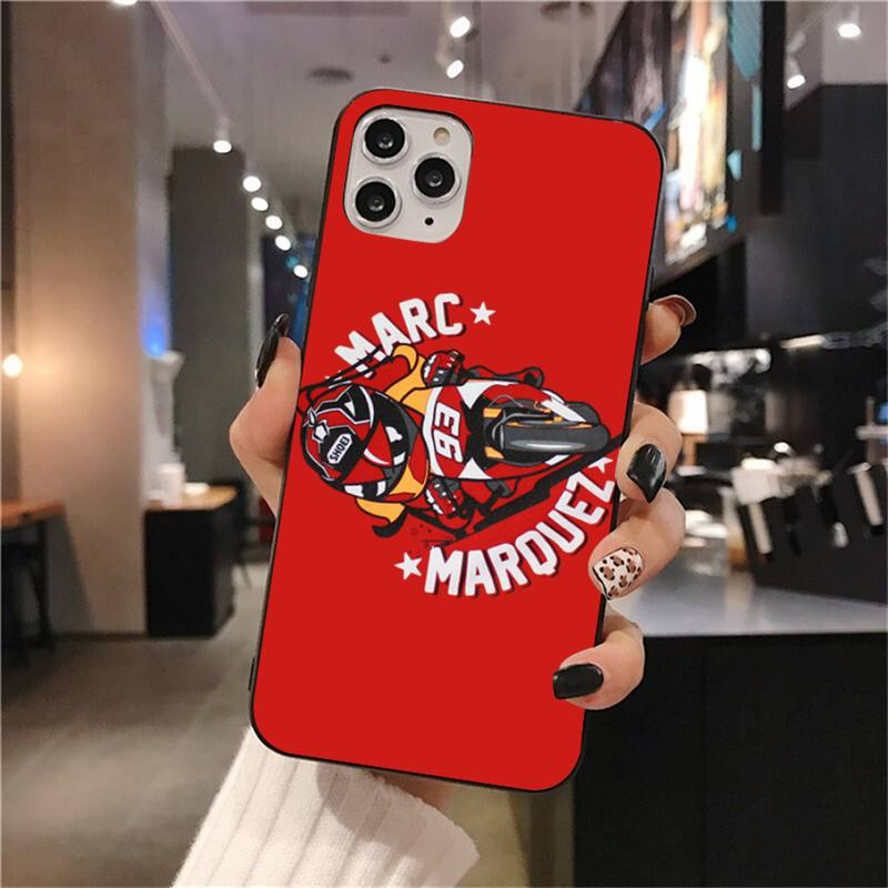 2019 Marc Marquez Moto Gp 93 Soft Silicone Black Phone Case For Iphone 11 Pro XS MAX 8 7 6 6S Plus X 5S SE 2020 XR Case